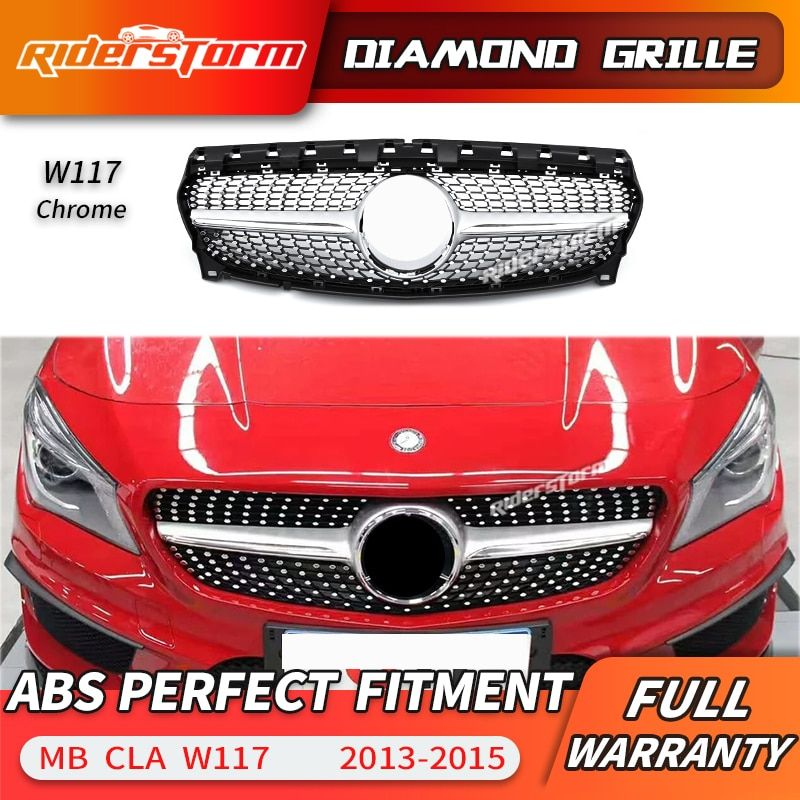 For CLA class W117 Diamond Grill Front Grille for CLA class CLA180 CLA200 CLA220 CLA250 Car grille