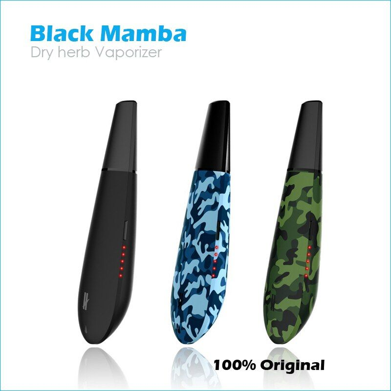 Original Kingtons Black Mamba Dry herb Vaporizer vape mod box flowermate herbal vaporisator e cigarette HERBSTICK Black widow