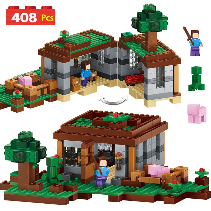 My World Series Eductional Technic Model Building Blocks Kit Castle Children Toys Compatible LegoINGLYS Minecrafter 408pcs