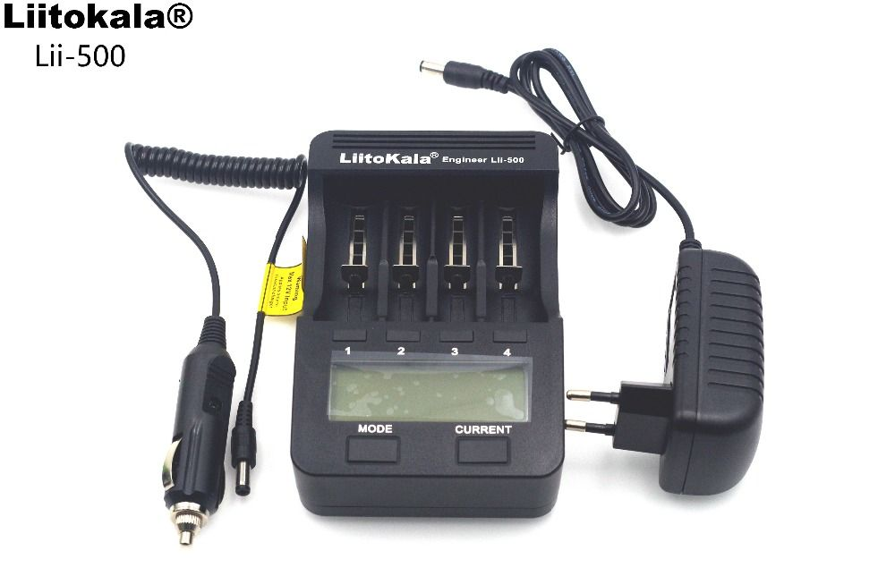 NEW Liitokala lii500 LCD 3.7V/1.2V AA/AAA 18650/26650/16340/<font><b>14500</b></font>/10440/18500 Battery Charger with Screen+12V 2A Adapter USB5V1A