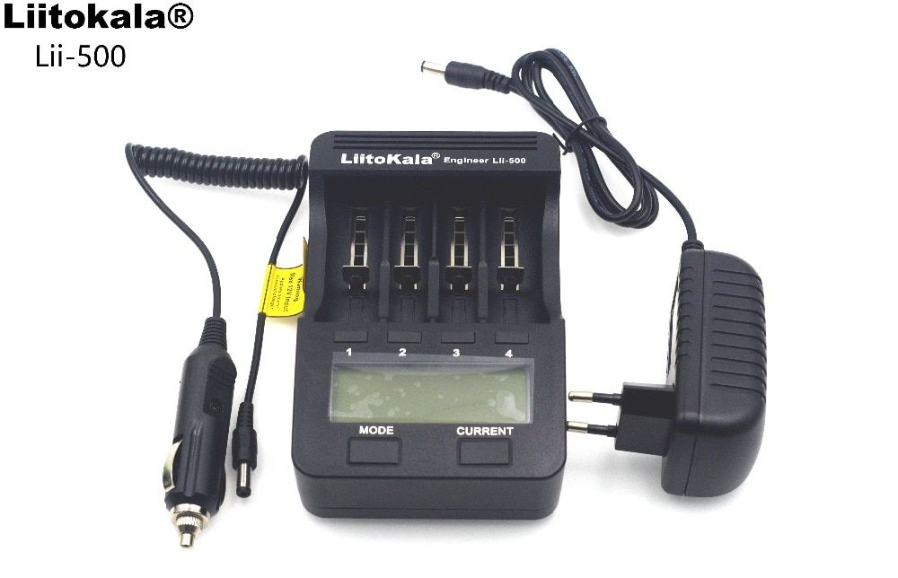 NEW Liitokala lii500 LCD 3.7V/1.2V AA/AAA 18650/<font><b>26650</b></font>/16340/14500/10440/18500 Battery Charger with Screen+12V 2A Adapter USB5V1A