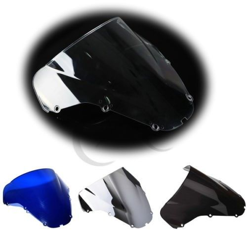 NEW PMMA Double Bubble Windshield Windscreen for HONDA CBR 929 RR 900RR 00-01 Motorcycle 4 Colors