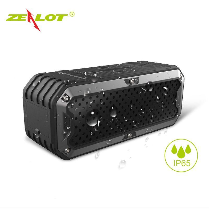 Zélot S6 étanche Portable sans fil Bluetooth haut-parleurs batterie externe double pilotes Subwoofer Support TF carte, Aux
