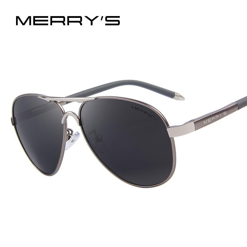 MERRY'S Männer Klassische Marke Sonnenbrille HD Polarisierte Aluminium Fahren sonnenbrille Luxus Shades UV400 S'8513