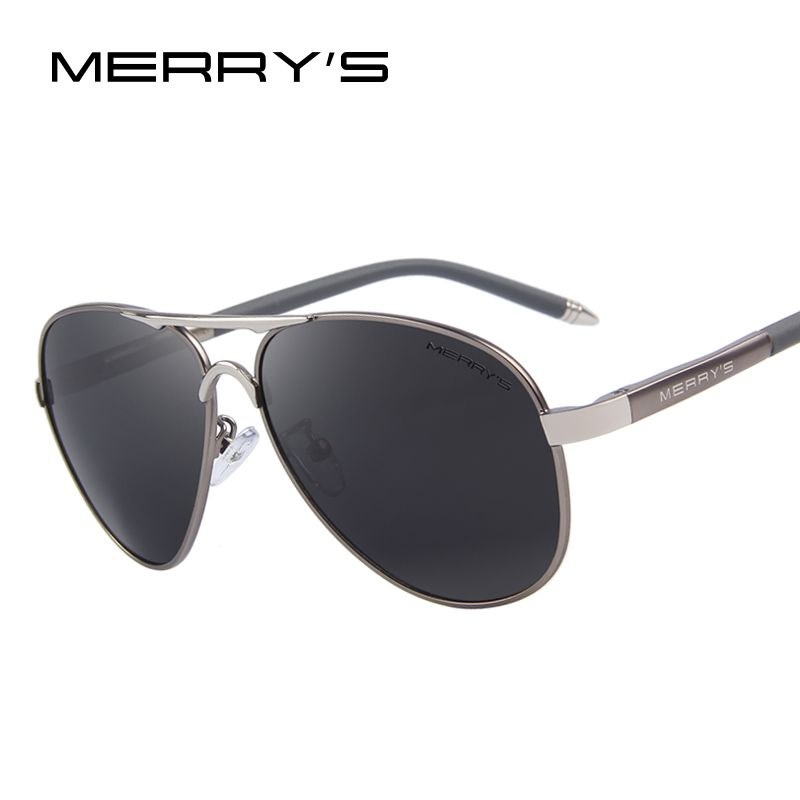 MERRY'S Men Classic Brand Sunglasses HD Polarized Aluminum Driving Sun glasses Luxury Shades UV400 S'8513