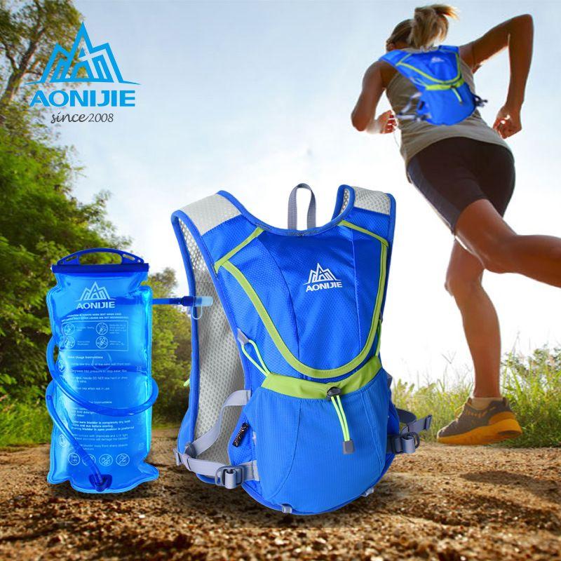 AONIJIE Radfahren Marathonlaufschuhe Weste Tasche Wasser Rucksack Sport Camping Trink Wasser Blase Weste Rucksack Mit 1.5L Wasserkocher