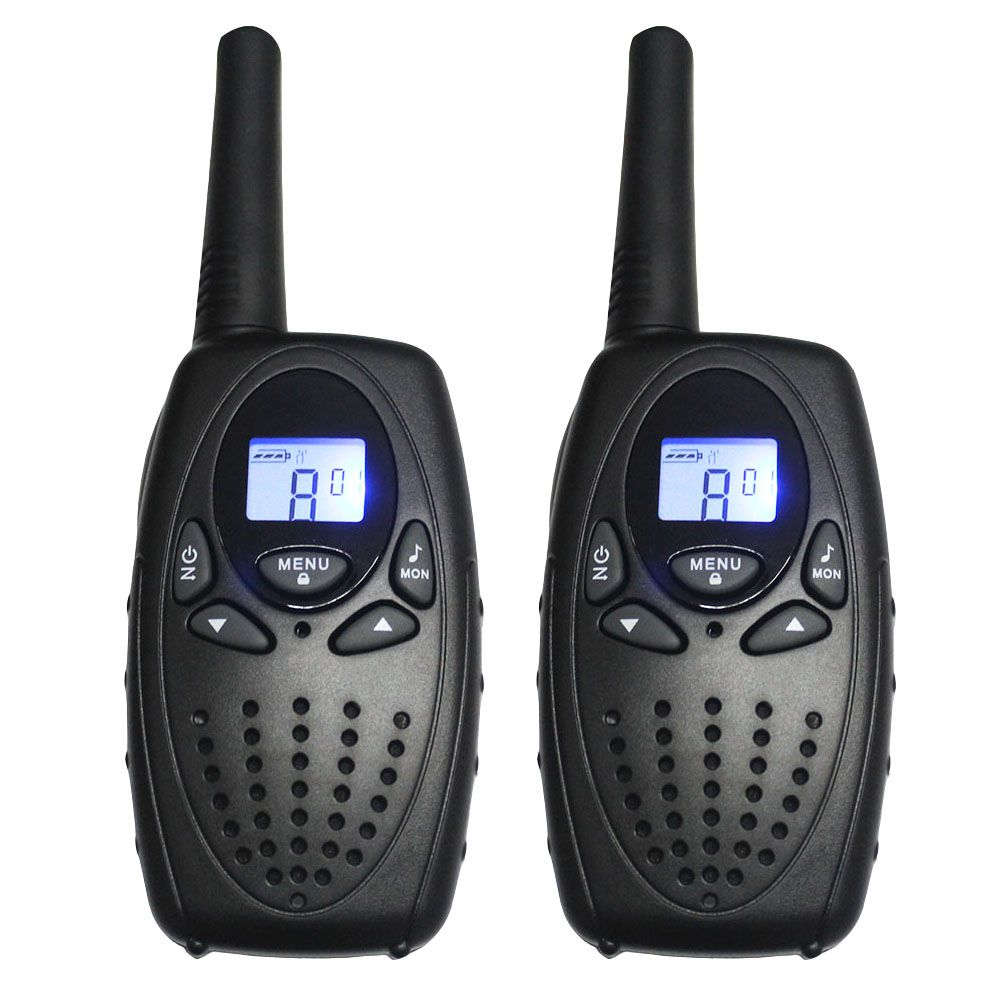 2PC TS628 1w Portable Walkie Talkies interphone radios PMR two Way ham Radio Transceiver dual monitor w/ earphones charger