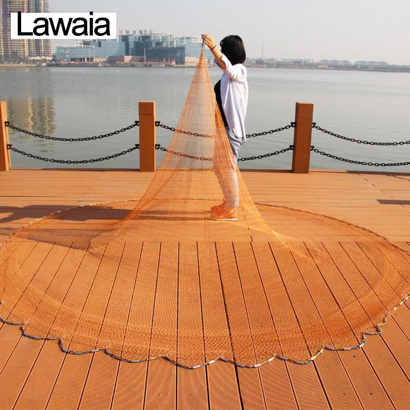 Lawaia Cast Netze für Angeln Gewinnt Amerikanischen Net Fischernetze Pull Dreh Bold Netze Angeln Tpie Casting Hand Marke Fischerei