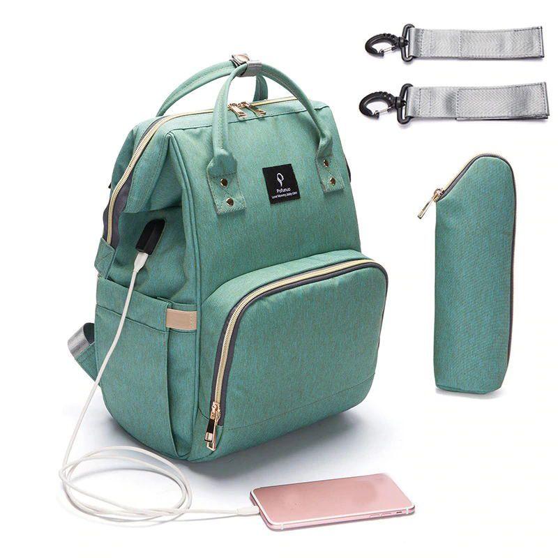 Baby Diaper Bag With USB Interface Large Capacity Travel Backpack Nursing Handbag Waterproof Nappy Bag Kits Mummy Maternity