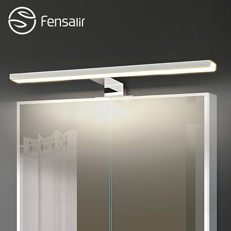 Fensalir 0-15W Dimmable waterproof Aluminum+ABS+Acryl toilet indoor makeup lighting Bathroom fixtures Led light Mirror Wall lamp