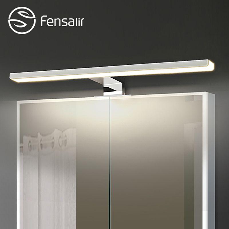 Fensalir 0-15W Dimmable waterproof Aluminum+ABS+Acryl toilet indoor makeup lighting Bathroom fixtures Led light Mirror Wall lamp