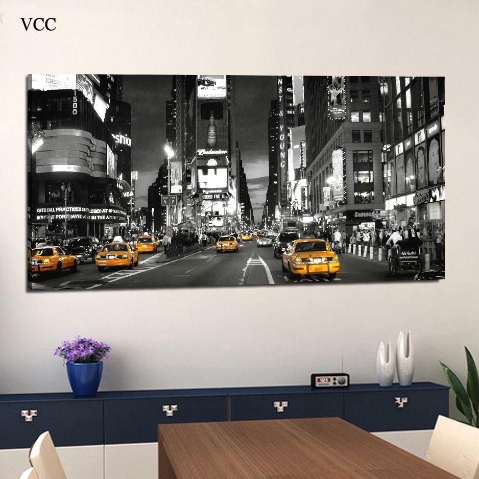 Toile Peinture Times Square New York Ville Image, Toiles, Affiches Et Gravures, mur Photos Pour Salon, Maison Peinture