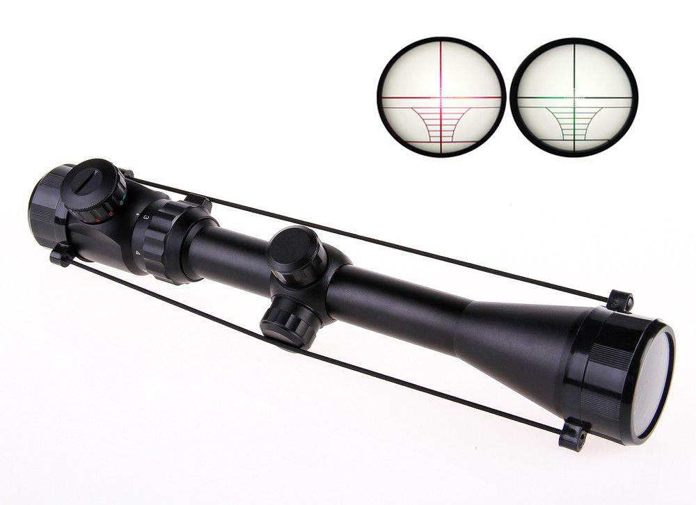 Livraison gratuite Ak Airsoft 3-9X40EG tactique Vision nocturne chasse optique vue sniper cerf lunette de visée SNIPER rouge point vert portée