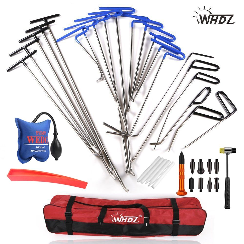 WHDZ Dent Repair pump wedge Tools Rubber Hammer Tap Down Pen Dent Hail Removal Repair Tools - PDR Hook Tools Push Rod PDR
