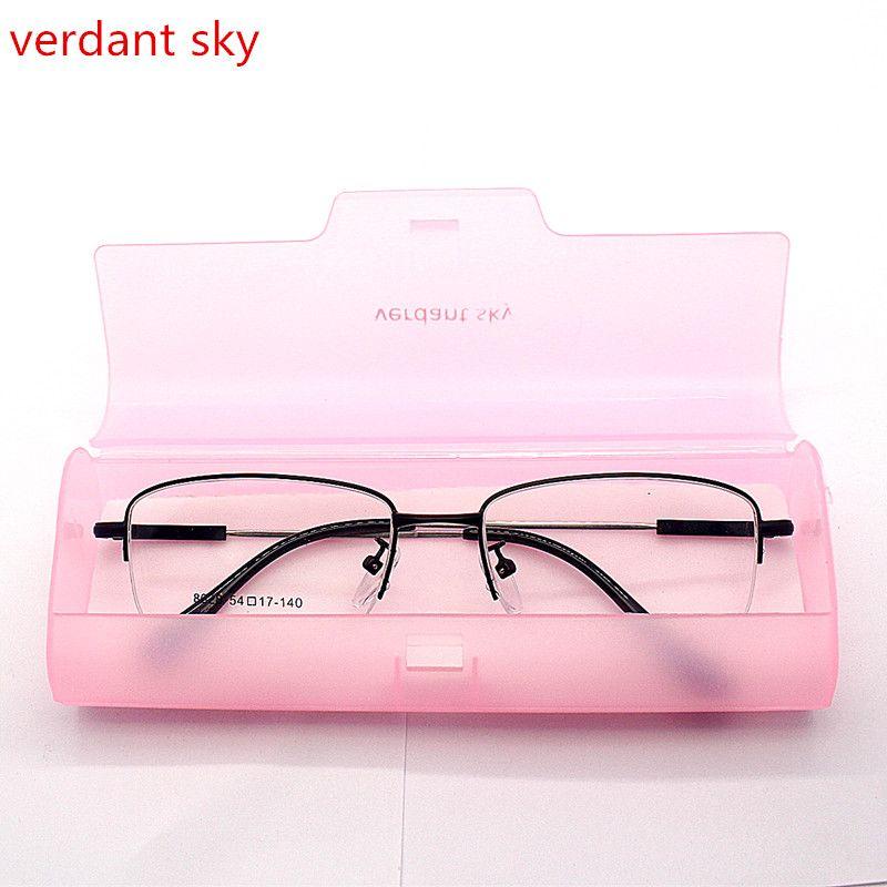 2017 супер свет Высококачественная брендовая Titanium обувь для мужчин и женщин полурамка оптические очки рамки половина кадр очки оригинальной ...