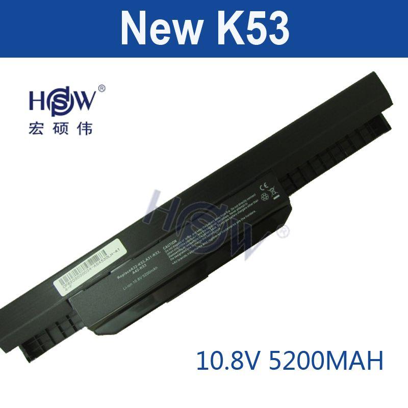 HSW 6cell battery A32-K53 for Asus A43E A53S K43E K43U K43S X54 X54H K43SJ X54C X84 K53S K53 K53SV K53T K53E K53SD X44H bateria