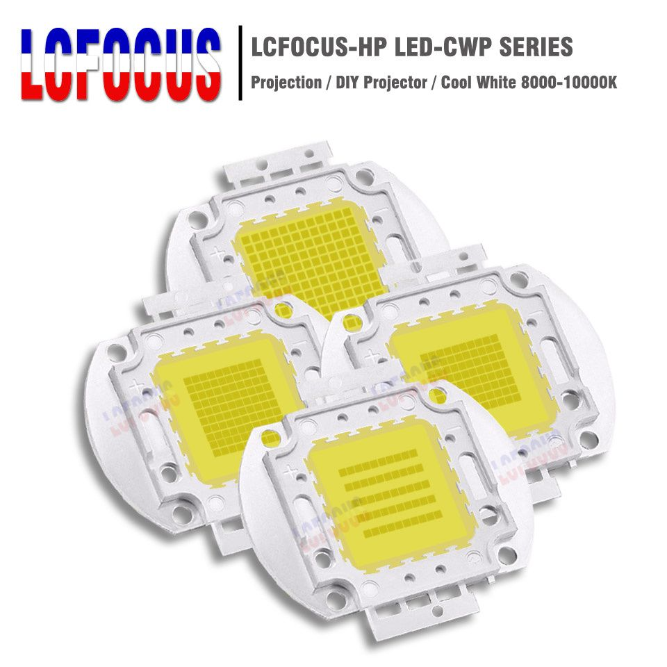 High Power 50W 80W 100W 144W LED Chip COB DIY HD Projectors Light Projector Bulbs For 100W 140W 160W 200W 288W Projector