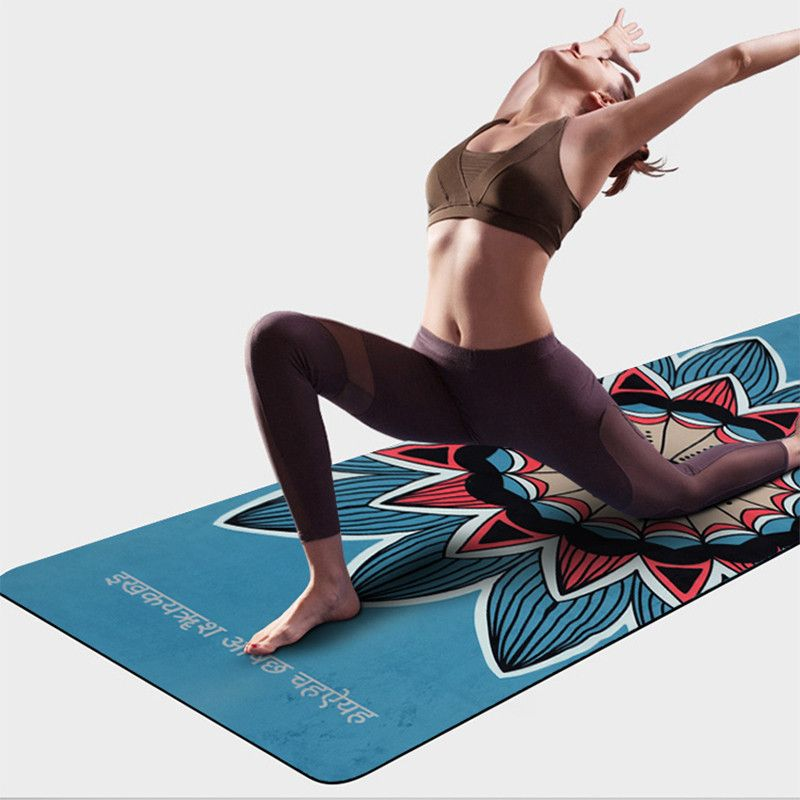 Suede Natural Rubber Yoga Mat Anti Slip Sweat Absorption 183*61cm*3.5mm Yoga Pad Fitness Gym Sports Exercise pad Yoga Mats