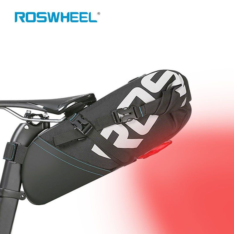 Radfahren Bike Hinten Taschen Fahrradtasche Led-rücklicht Sattelstütze Tasche Fahrrad Saddle Seat Lagerung Rucksack MTB paket Pannier