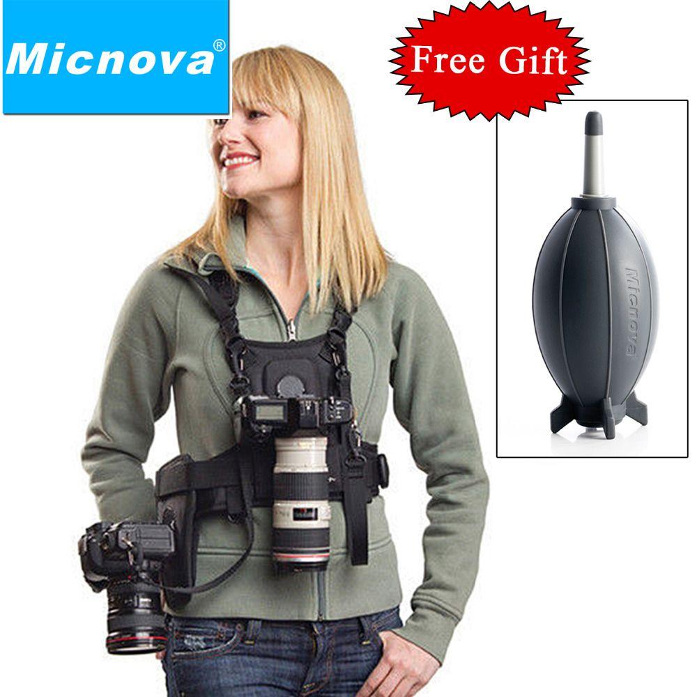 Micnova MQ-MSP01 transporteur II Multi caméra transporteur photographe gilet avec double sangle latérale étui pour Canon Nikon Sony appareil photo reflex numérique