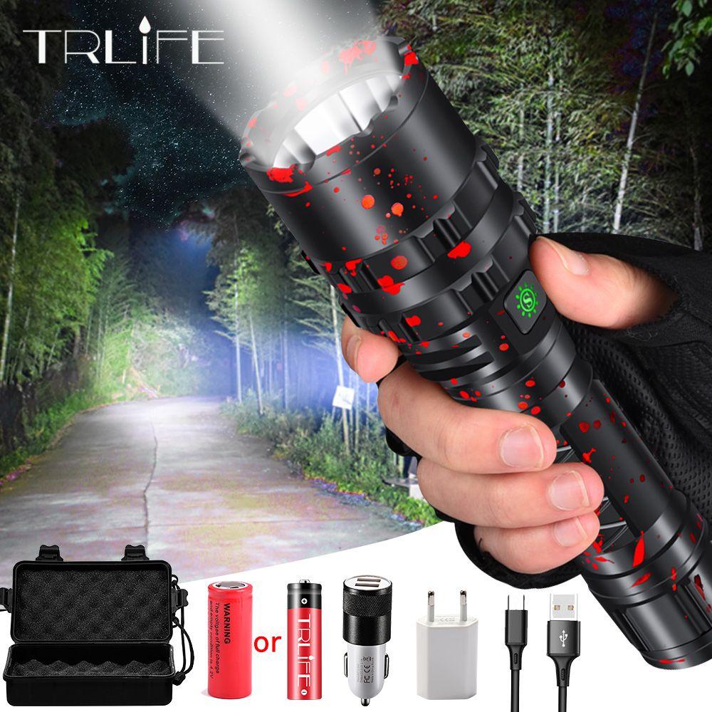 80000LM XHP50.2 lampe de poche LED Xlamp aluminium chasse L2 étanche torche lumière puissante lanterne utilisation 18650 26650 batterie