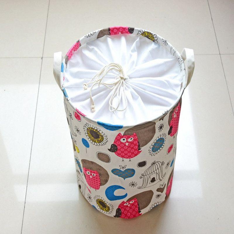 Petits paniers/sacs de stockage de tournesol d'oiseau finissant le seau de blanchisserie de panier de casse-croûte de plancher pour les vêtements sales livres de jouets d'enfants
