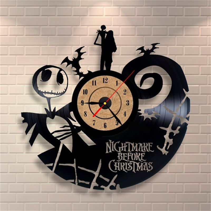 2018 Hot Vinyl Record CD Wall Clock Antique Style Film Theme Art Clock Quartz Watch Saat Home Decor