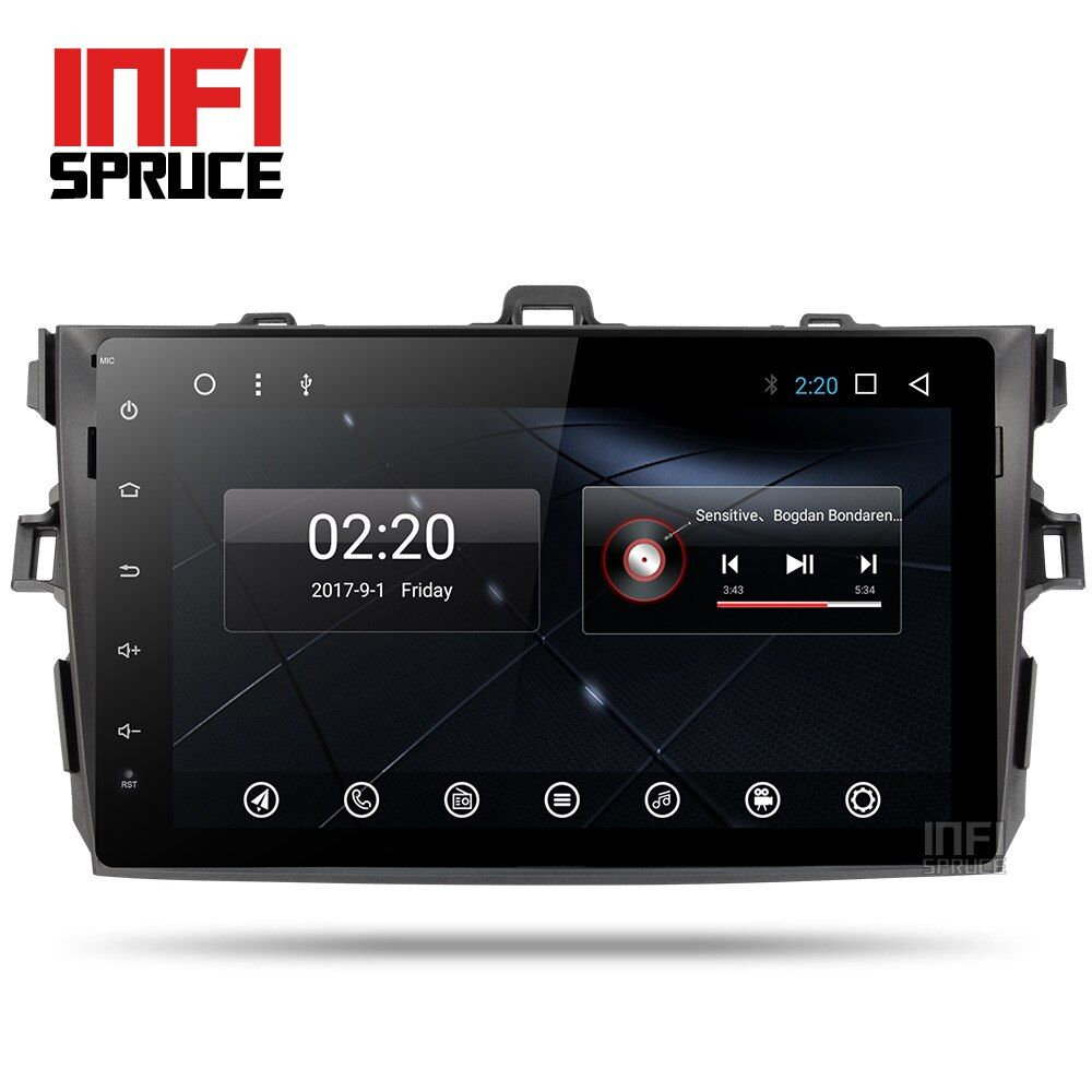 Android 7.1 auto dvd-player für Toyota Corolla Acht Kern 9 zoll 1024*600 bildschirm autoradio stereo gps navigation video player