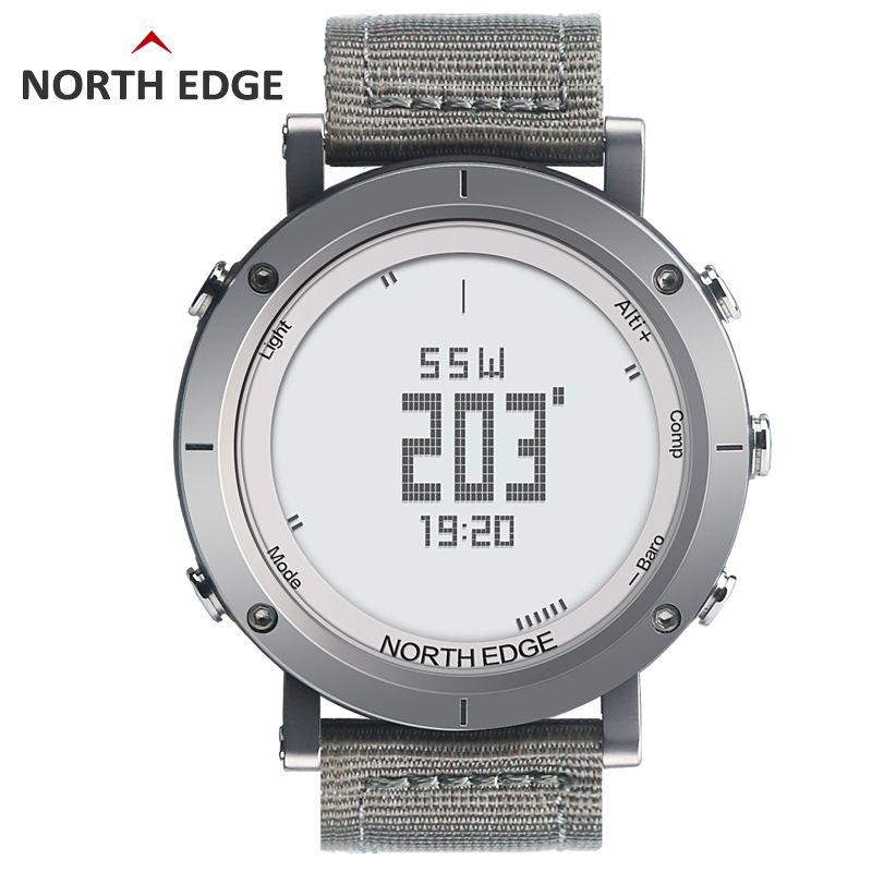 Mann im freien sport digitalen smart watch wasserdicht 50 m angeln Höhenmesser Barometer Thermometer Kompass Höhe stunden NORDEN RAND