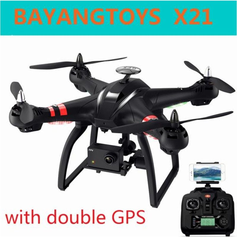 BAYANGTOYS X21 Brushless Double GPS Selfie Drone RC Quadcopter RTF WiFi FPV Camera 1080P Full HD Professional Drone With Gimbal