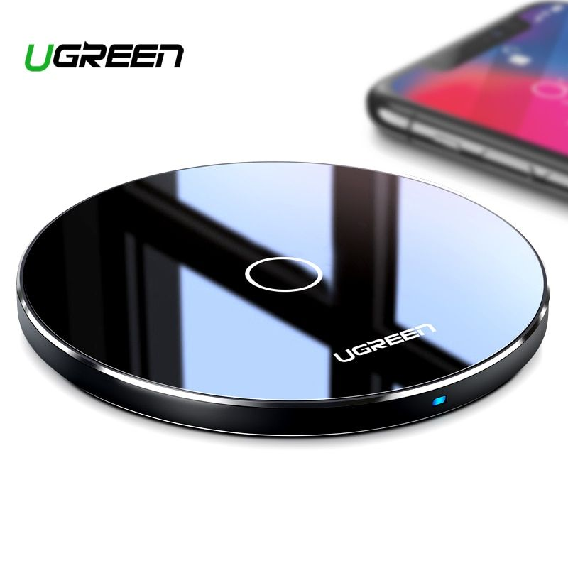 Chargeur sans fil Ugreen 10 W Qi pour iPhone X XS XR 8 Plus chargeur sans fil rapide pour Samsung S8 S9 S10 Xiao mi 9 chargeur
