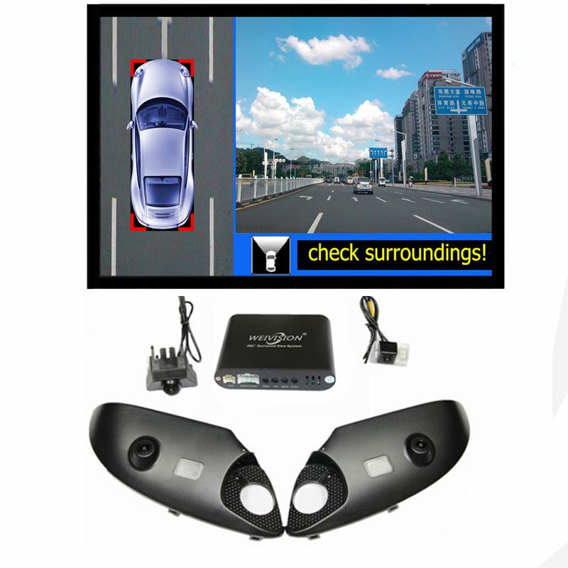 360 Degree bird View Car DVR Record with parking Monitor System, All round rear View Camera for Toyota Prado Land Cruiser