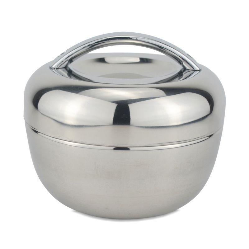Sanqia 1.3l pomme forme isolation thermique en acier inoxydable boîte à lunch Bento récipient alimentaire stockage des aliments boîte à gâteaux ensemble de vaisselle