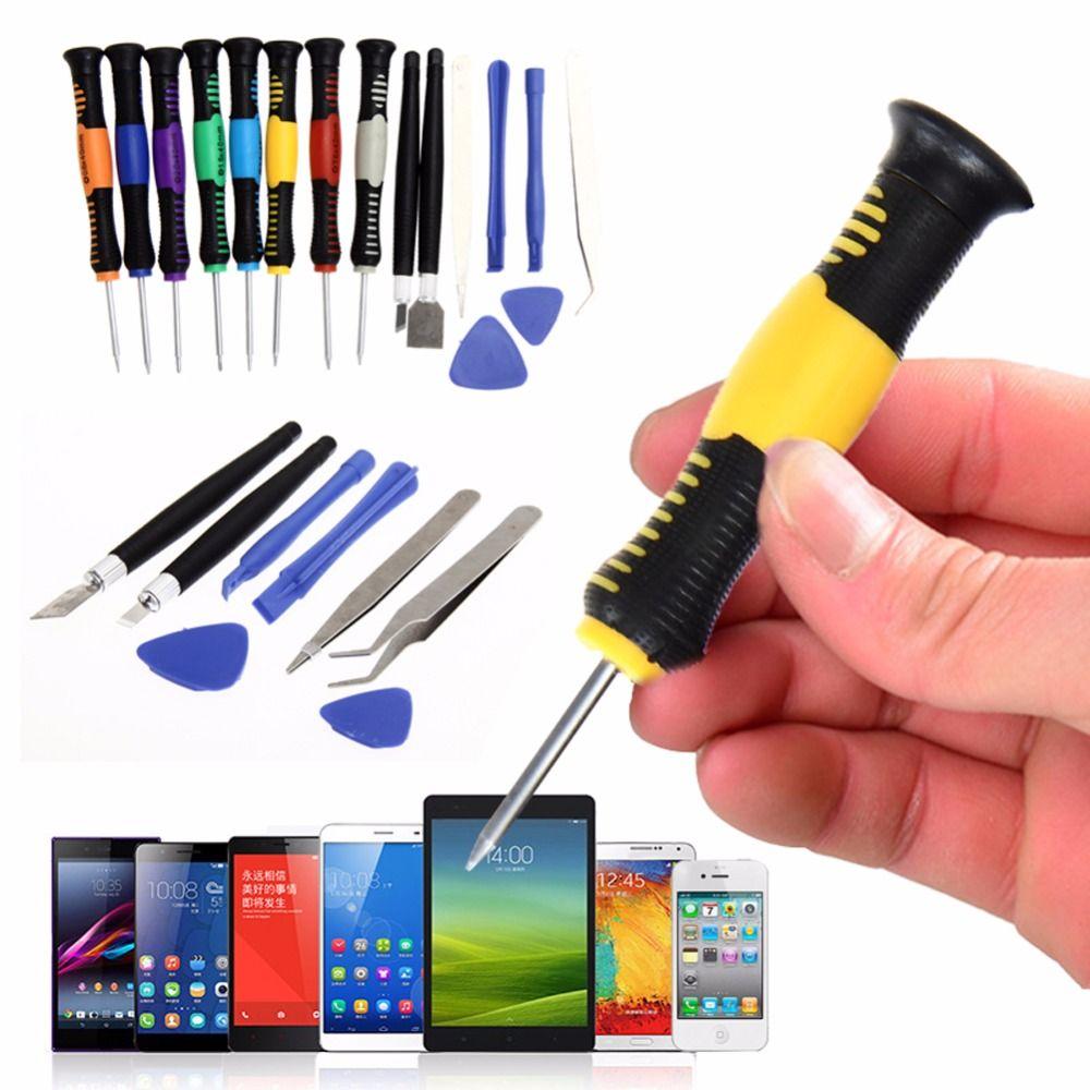 16 dans 1 Téléphone Mobile Outils De Réparation Tournevis Set Kit Pour iTouch iPad4 pour iPhone 5S SE 6 7 X Plus Samsung Motorola Nokia LG