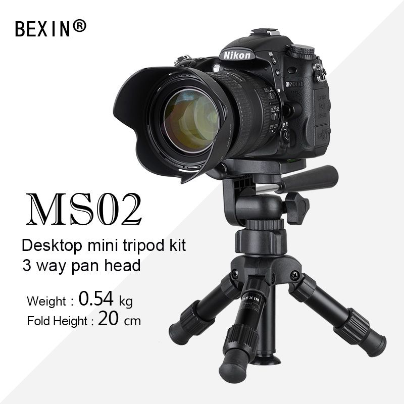 Aluminum alloy professional portable with 3-way ball head mini <font><b>tripod</b></font> small <font><b>tripod</b></font> panoramic ball head for dslr camera
