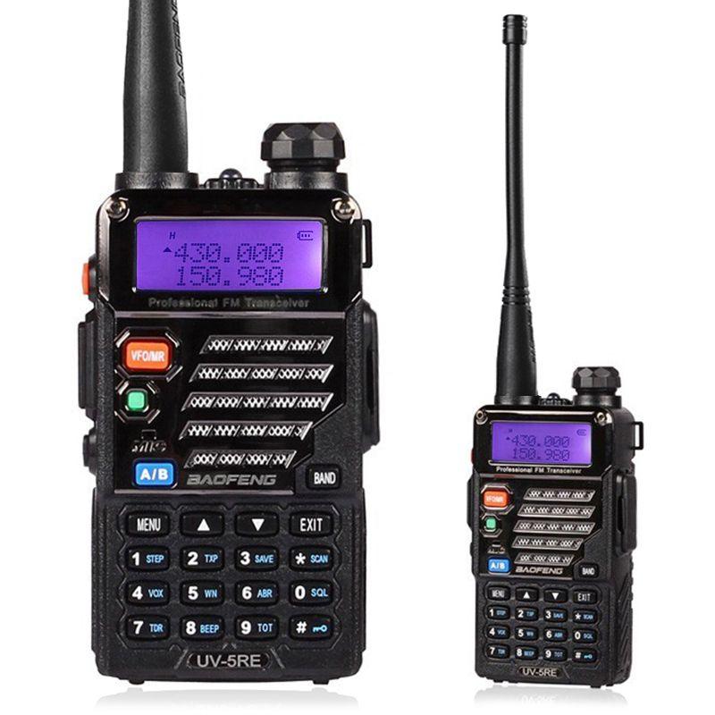 Walkie Talkie Baofeng UV-5RE Dual Band Radio 136-174Mhz & 400-520Mhz handheld Portable uv5re Two Way Radio