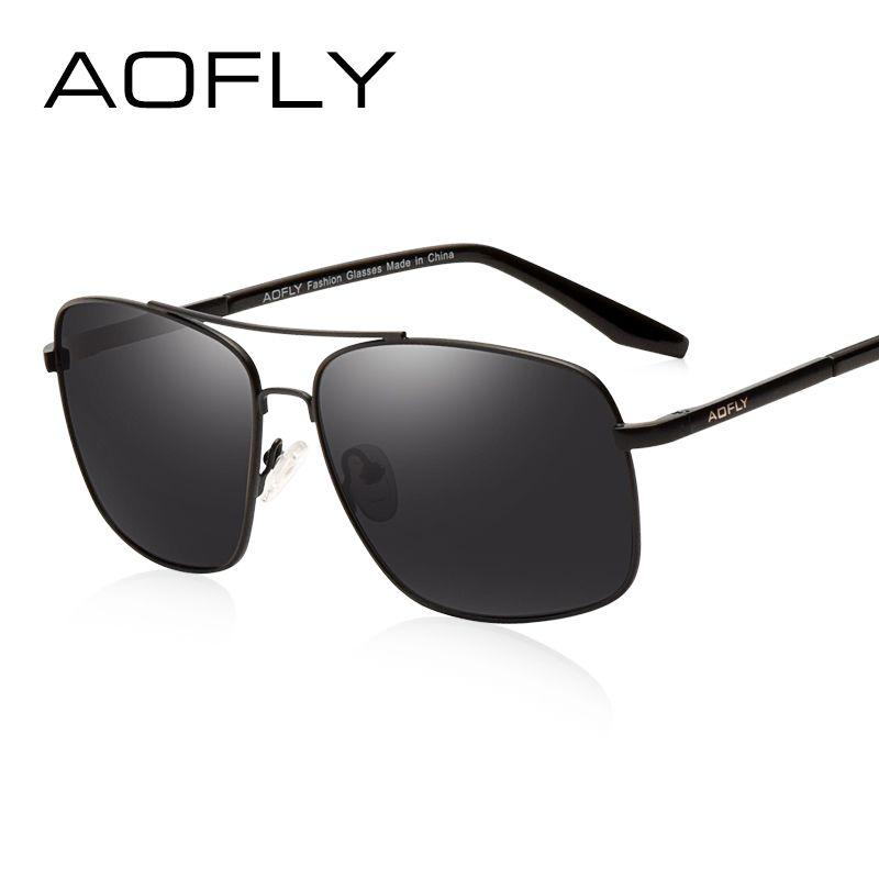 AOFLY männer Polarisierte Sonnenbrille Mode Marke Designer HD Polaroid sonnenbrille für Männer Beschichtung Objektiv Doppel Brücke Goggle AF6107