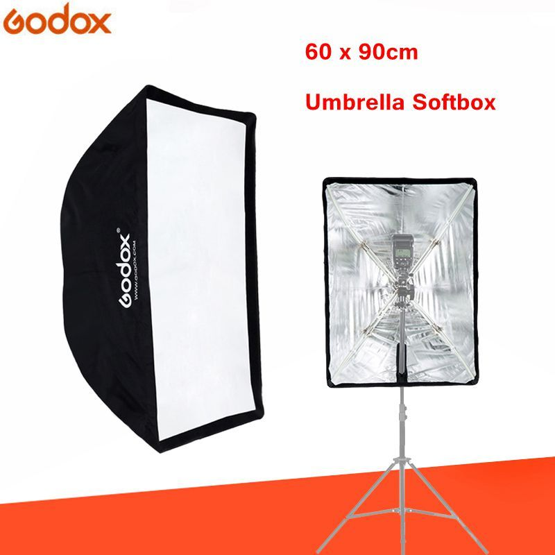 Godox softbox 60x90cm Flash Speedlite broly Umbrella Light Soft box Reflector for photo video Studio photography accessories