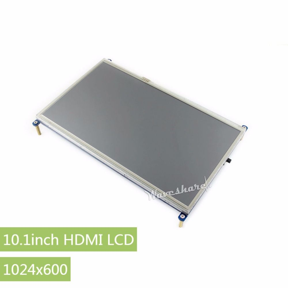 RPi 10.1inch Resistive Touch Screen LCD 1024*600 for any Version of Raspberry Pi+Back light control + lower power consumption