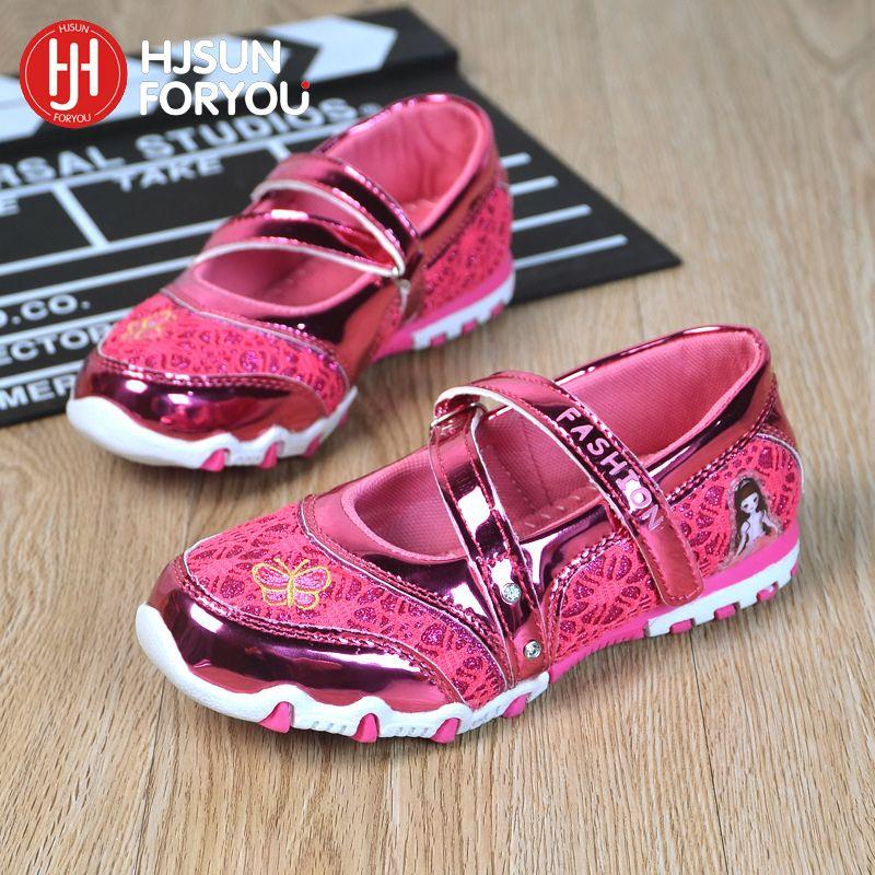 Повседневная детская обувь бренд Обувь для девочек молния сверкающих спортивная обувь модные сандалии для малышей Горячая Мультфильм Спор...