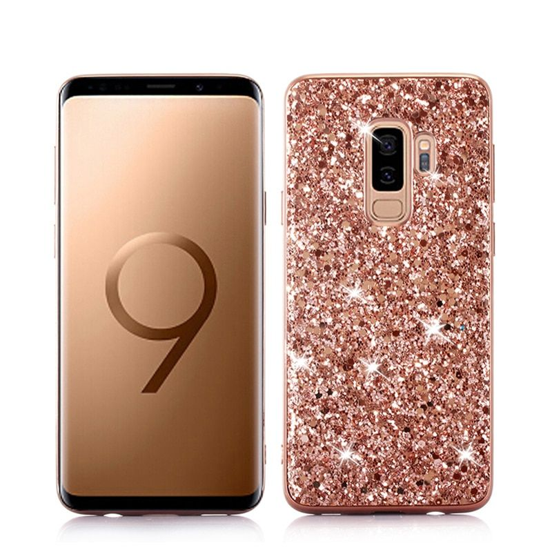 Luxury Bling Shining TPU For Sumsung Galaxy S8 S9 S10 E A6 A8 J4 J6 Plus J7 A7 A9 2018 S7 Edge Hard Back Cover Case Mujer Shell
