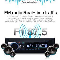 Jsd-520 12 V Bluetooth coche ESTÉREO FM Radio MP3 Audio 5 V cargador USB SD AUX Auto electrónica Subwoofer 1 DIN Autoradio