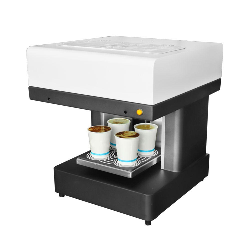 DIY Kaffee Drucker 4 tassen Automatische Kunst Kaffee Drucker Latte Druck Maschine Für Kuchen Schokolade Dessert Kekse Milch Tee