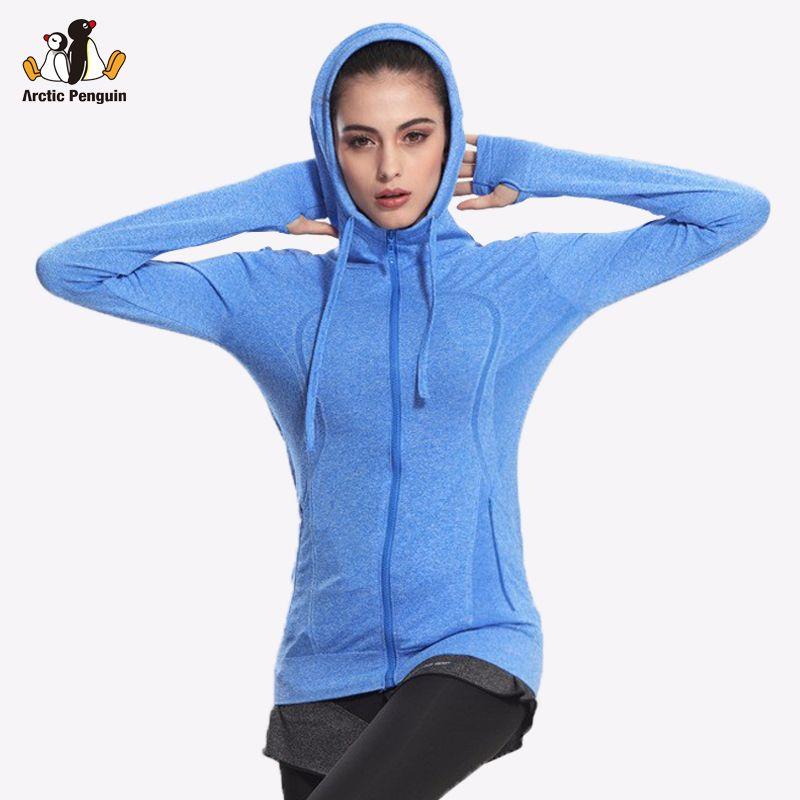 [AP] Damen Laufschuhe Atmungsaktive Jacke langarm Yoga Fitness Mit Kapuze Reißverschluss Sweatshirt Quick-dry Sport Outwear Plus größe WT8004