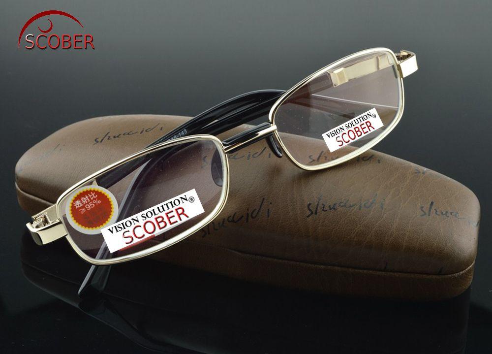 SCOBER = Natural Crystal Multi-Coated Lens Full-Rim Nickel Alloy Luxury Men Women Reading Glasses +0.75 +1 +1.25 +1.5 +1.75 to+4