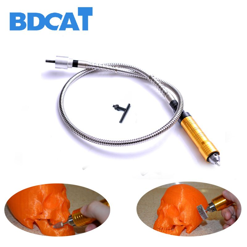 6mm Rotary <font><b>Grinder</b></font> Tool Flexible Flex Shaft Fits + 0-6.5mm Handpiece For Dremel Style Electric Drill Rotary Tool Accessories