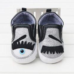 Mignon Cils Eye Enfant En Bas Âge Bébé Chaussures Slip-on Garçons Et Filles Nouveau-Né Berceau Chaussures Première Walker No-Slip nourrissons Casual Sport Chaussures