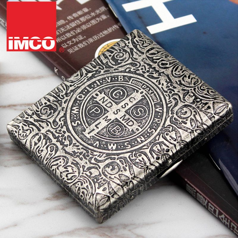 (20 Cigarette ) Classic Constantine Cigarette Case Vintage Metal Copper Carving Cigarette Box Smoker Men's Cigarette Gift