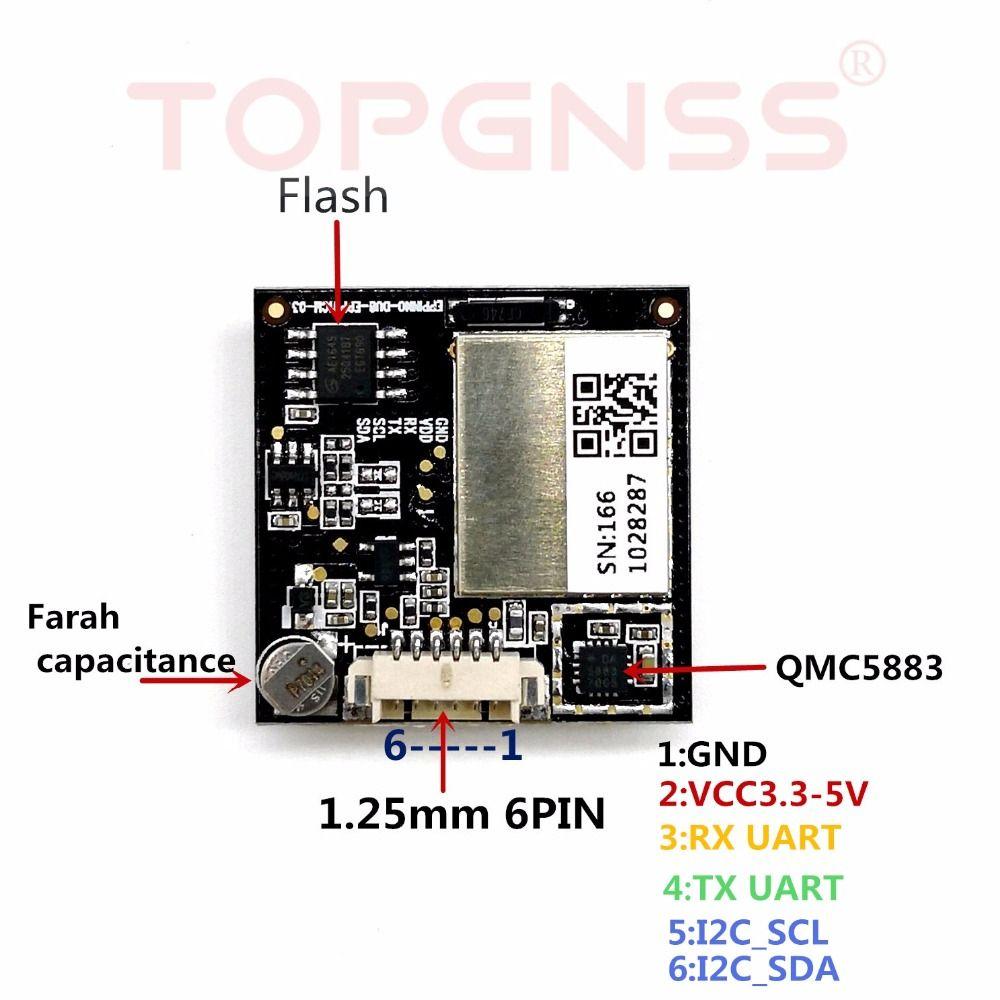 Ublox neo-M8N GNSS chip design GNSS module compass integrated module receiver,using sensitivity GNSS antenna Air flight control