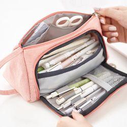 Indah Pencil Case Kawaii Kapasitas Besar Kotak Pensil Sekolah Pena Case Portable Pensil Tas Pensil Kantong Sekolah Pena Kotak Alat Tulis